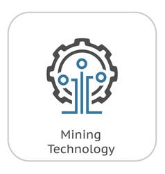 Mining technology icon vector