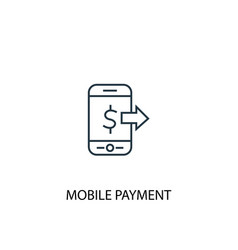 Mobile payment concept line icon simple element vector