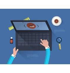 Modern concept in the office vector image