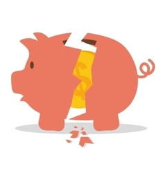 Money saving and business vector