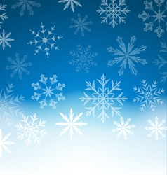 New Year blue background with snowflakes and copy vector image
