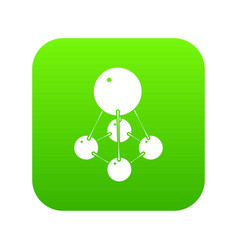 nitromethane icon green vector image