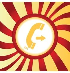 Outgoing call abstract icon vector