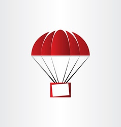 parachute with message box vector image