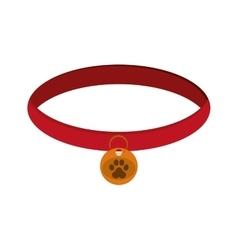 Pet collar icon vector