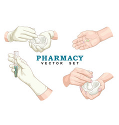 pharmacy set vector image
