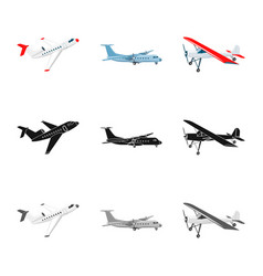 Plane and transport icon vector