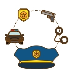Police tools icon image design vector