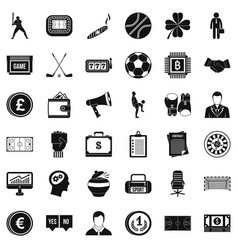 roulette icons set simple style vector image