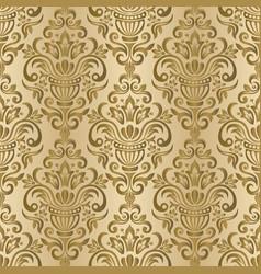 seamless damask wallpaper seamless oriental vector image