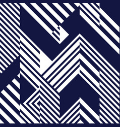 seamless pattern with navy blue white striped vector image