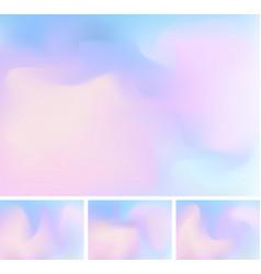 Set abstract fluid or liquid gradient blue vector