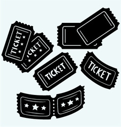 Set cinema tickets vector