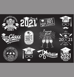 set class 2021 badges concept for vector image
