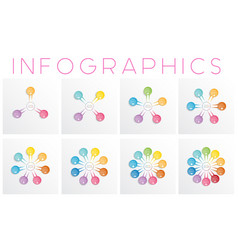 set colorful infographics templates for different vector image