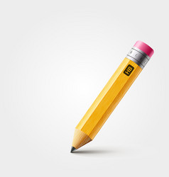 Short yellow pencil realistic pencil vector