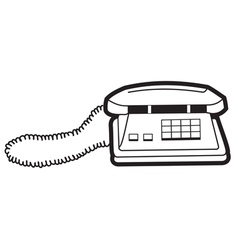 Silhouette of a telephone vector