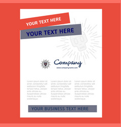 skull title page design for company profile vector image