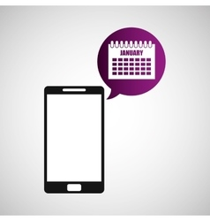 Smartphone and calendar application vector