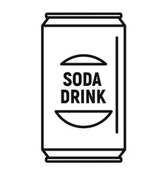 Soda drink can icon outline style vector