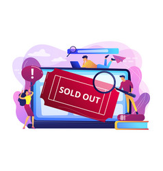 Sold-out event concept vector