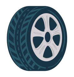 tyre for cars made rubber mechanics shop icon vector image