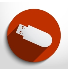 Usb flash drive web icon vector