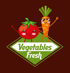 vegetables fresh food vector image