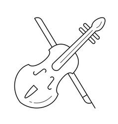 Viola line icon vector