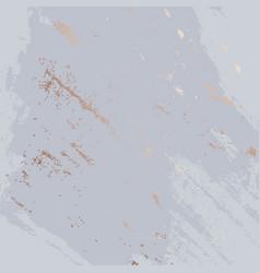 Violet brush strokes with glitter golden marble vector