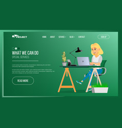 website page business agency network vector image