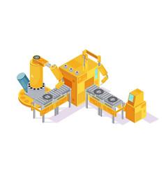 Welding conveyor isometric vector