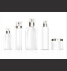 white cosmetic tube set on a white background vector image