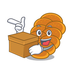 With box challah character cartoon style vector