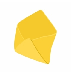 Open yellow envelope icon in cartoon style vector image vector image