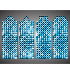 Price tag tag with shiny blue sequin eps 10 vector