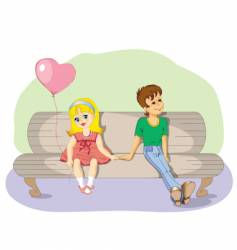 young love vector image