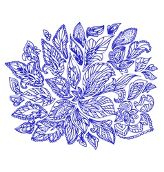 doodle flower abstract2 vector image vector image