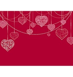 Flat stvalentine and wedding holiday background vector