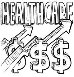 Healthcare costs increase vector image vector image