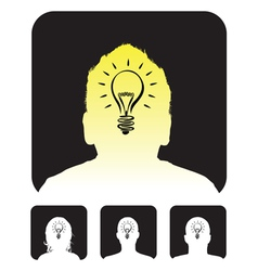 lightbulb profile vector image