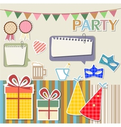 Party design elements for scrapbook vector image vector image