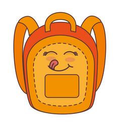 School bag comic character vector
