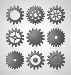 Steel cogwheels vector