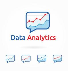 web analytics business marketing logo template vector image