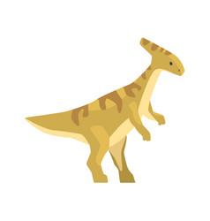 cartoon parazavrolofus character jurassic period vector image vector image