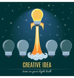 Creative Idea Flat Concept vector image vector image