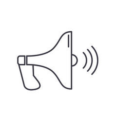 loudspeaker line icon sign vector image