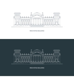 Reichstag building logo concept vector