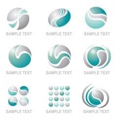 set of modern symbol design vector image vector image